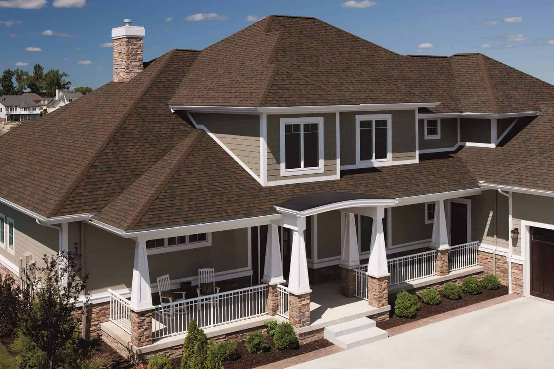 Brownwood Home with Brown Shingled Roof